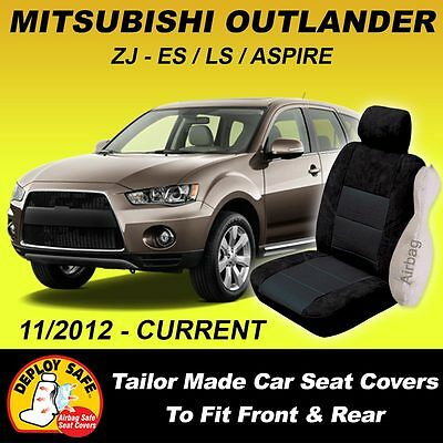 AU138.95 • Buy Car Seat Covers MITSUBISHI OUTLANDER Front & Rear 11/2012 - Current Airbag Safe!