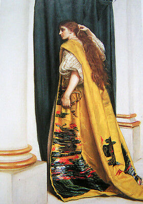$ CDN94.54 • Buy Beautiful Art Oil Painting J. W. Waterhouse - Female Portrait Esther Canvas 36