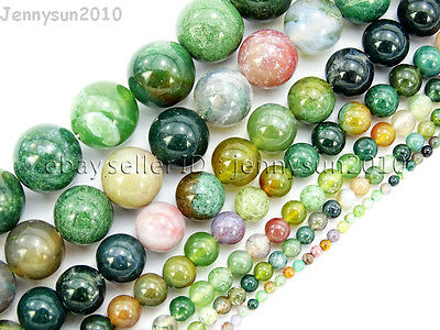 $ CDN2.16 • Buy Natural Indian Agate Gemstone Round Beads 15'' 2mm 3mm 4mm 6mm 8mm 10mm 12mm