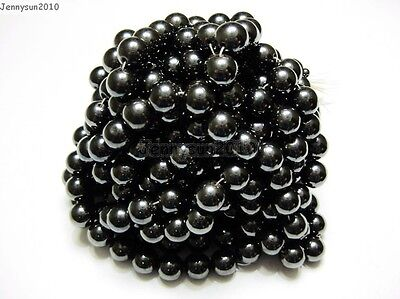 $ CDN3.32 • Buy Natural MAGNETIC Hematite Gemstones Round Beads 16'' 4mm 6mm 8mm 10mm 12mm
