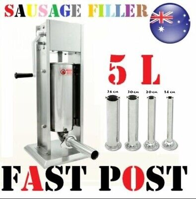 AU143.30 • Buy 5L Sausage Filler Stuffer Stainless Steel Two Speed Adjustment Salami Maker