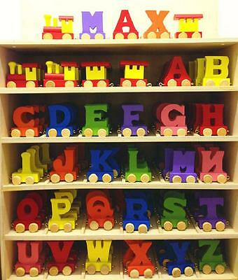 £1.80 • Buy Alphabet Wooden Colourful Train Letters For Personalized Name As Children Gift