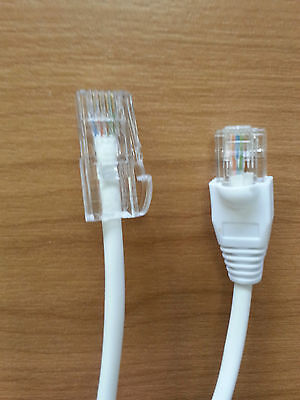 £3.79 • Buy BT MALE TELEPHONE CONNECTOR 431 A To RJ45 1.5M CABLE LEAD FOR ETHERNET CAT5