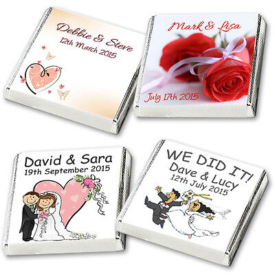 £8.75 • Buy 50 Personalised Chocolate Favours, Huge Choice OR Your Own Design & FREE POSTAGE