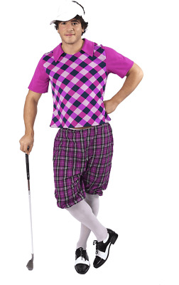 Mens Pink Pub Golf Sport Stag Night Fun Fancy Dress Costume • 29.99£