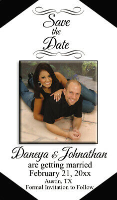AU57.35 • Buy Save The Date Wedding Invitation Magnets W Ur Pic