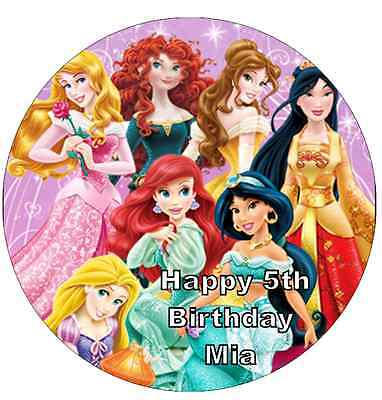 £2 • Buy Disney Princess Personalised Cake Topper 7.5  Edible Wafer Paper  Birthday Party