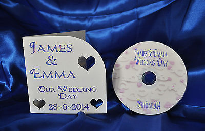 Disposable Camera Alternative~~ Personalised Wedding CD And Cover • 8.50£