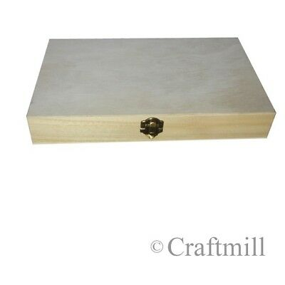 £10.02 • Buy Wooden Box / Case To Display Or Protect Military War Medals - Plain Inside/out