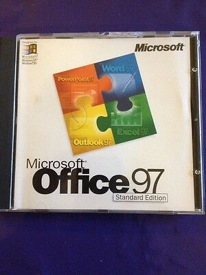 Microsoft Office 97 Standard Upgrade Windows Word Excel Outlook With Product Key • 14.99£