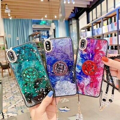$ CDN8.66 • Buy Luxury Bling Glitter Silicone Ring Chain Case For IPhone 11 Pro Max S9/S10/S20