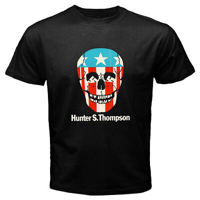 $21.49 • Buy New Hunter S Thompson  Gonzo  Skull Logo Men's Black T-Shirt Size S To 3XL