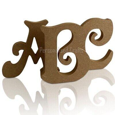 £2.57 • Buy Free Standing Wooden MDF Victorian Letters 18mm Thick! 3 Heights Available
