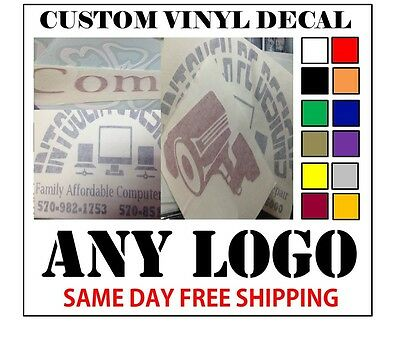 $5 • Buy Custom Vinyl Decals / Sticker - Any Logo Or Image - Fast Free Shipping