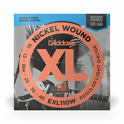 $ CDN7.39 • Buy D'Addario EXL110W Nickel Regular Light Wound 3rd Electric Guitar Strings 10-46