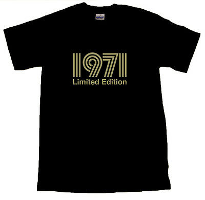 £9.99 • Buy 1971 Limited Edition Gold Text T-SHIRT ALL SIZES # Black