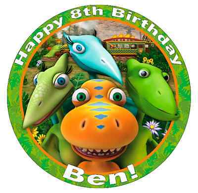 Dinosaur Train Personalised Cake Toper 7.5  Edible Wafer Paper Birthday Party • 1.90£