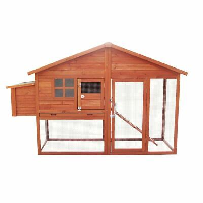 £219.95 • Buy 6ft Large Chicken Coop And Run With Egg Nest Box Poultry Hen House Bird Ark Cage