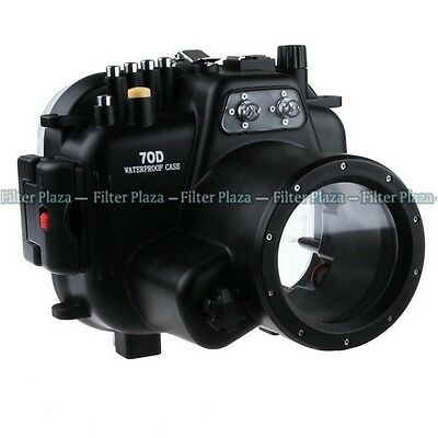 40M Waterproof Underwater Camera Housing Case For Canon EOS 70D & 18-135mm Lens • 317.78£