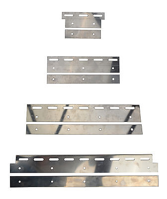 £17.50 • Buy Stainless Steel Plate Set For PVC Curtain Strips