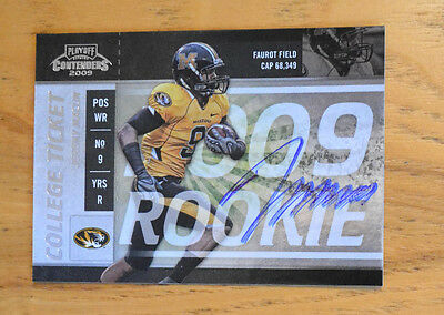 $29.99 • Buy Jeremy Maclin 2009 Playoff Contenders SP College Ticket Auto Autograph