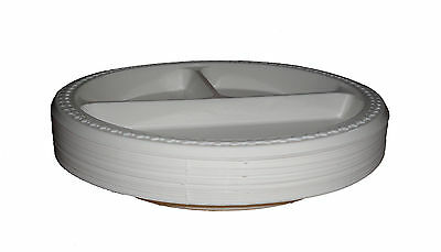 £12.95 • Buy 100 Plastic Plates 3 Section Or  Compartment  Wedding / Catering / Takeaway