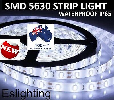 AU16.95 • Buy 5m Flexible Bright Led Strip Lights 12v Waterproof 5630 Smd Cool White 300 Leds