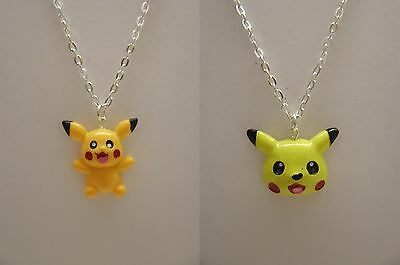 Boys Girls Pokemon Pikachu Pendant With 18  Silver Plated Necklace  • 3.99£