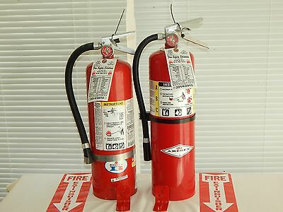 $100 • Buy Fire Extinguisher - 10Lb ABC Dry Chemical  - Lot Of 2 [NICE]