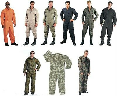 $48.99 • Buy Military Style Flight Suit Coveralls Air Force Jump Suit Overalls Camo Rothco