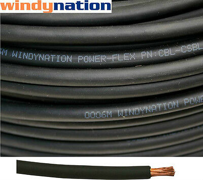 100' 2 Awg Black Welding Cable Gauge Copper  Wire Battery Solar Rv Car Boat Lead • 157.99$