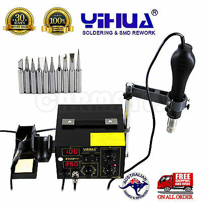 AU118.96 • Buy FOR YIHUA 852D++ HOT AIR GUN HOLDER SOLDERING REWORK SMD STATION ESD Safe