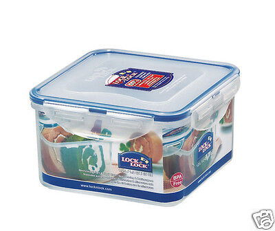£4.75 • Buy Lock & Lock Clip Lid Square Food Storage Container Lunch Box ~ 3 Sizes