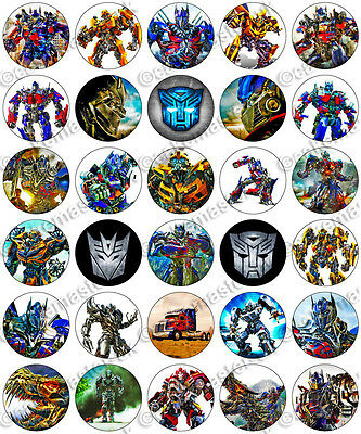 30 X Transformers Party Collection Edible Rice Wafer Paper Cupcake Toppers • 1.49£
