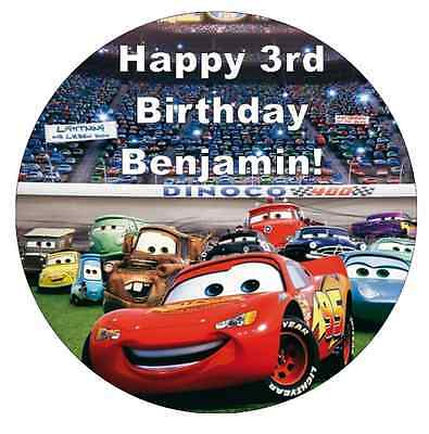 Cars Lightning Mcqueen Personalised Cake Topper 7.5  Edible Wafer Paper • 2.25£