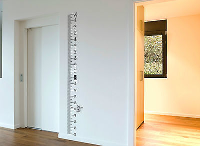 AU29.99 • Buy Ruler Wall Vinyl Decal Sticker Growth Chart DIY Wooden Vintage Height Chart