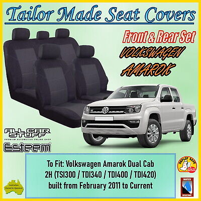 AU147.99 • Buy Tailor Made Seat Covers For Volkswagen (VW) Amarok Dual Cab: 02/2011 To Current