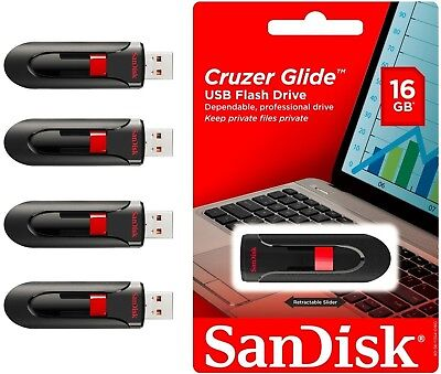 $19.95 • Buy SANDISK CRUZER GLIDE 16GB USB 3.0 FLASH DRIVE MEMORY STICK THUMB WHOLESALE Lot