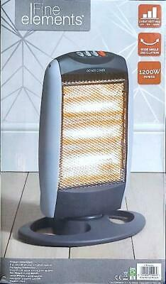 £21.99 • Buy 1200W Halogen Heater 3 Bar Heat Settings High Quality Resistant Base Home Office