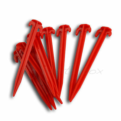 £7.59 • Buy 20 X Plastic Tent / Awning Pegs – Ideal For Grass & Soft Ground Pitch – 19cm
