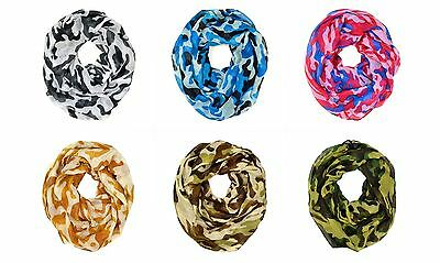 $6.45 • Buy Camouflage Camo Print Hunting Outdoor Circle Loop Infinity Scarf Multi Color