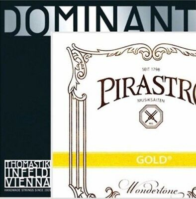 $45.50 • Buy Dominant Violin Strings Set 4/4 135B A,D,G  With Gold Label E Ball End