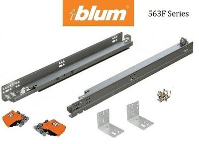 563F BLUM Tandem Drawer Slides With BLUMOTION (pair) With Locking Devices • 18.40£