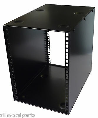 8U Half Rack 10.5 Inch  400mm STACKABLE DESK  CABINET  HALF RACK CASE  BLACK • 58£