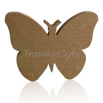 Free Standing Wooden MDF Butterfly Shape 150mm High  • 2.99£