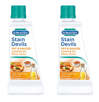 2x Dr Beckmann Stain Devils Remover For Cooking Oil & Fat And Much More - 50ml • 5.25£