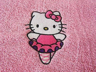 Personalized Embroidered Hello Kitty Swimming/bath Towel  Ballerina  • 14.99£