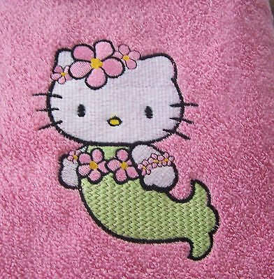 Personalized Embroidered Hello Kitty Swimming/bath Towel Mermaid  • 14.99£