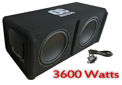 £349.99 • Buy 12   Twin Active Amplified Double Bass Box Sub Car Subwoofer Amp Amplifier 3600W