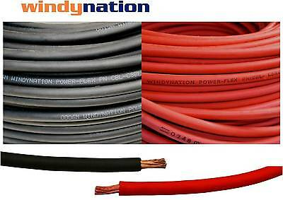 $ CDN53.39 • Buy 2/0 Awg Welding Cable Wire Red Black Gauge Copper Wire Battery Solar Leads